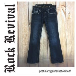 ⭐️Men's ROCK REVIVAL Remy Slim Boot Jean Size 31